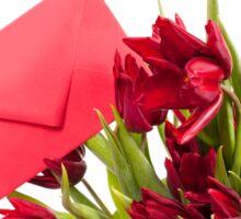 Red tulips flower post Sticker