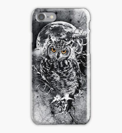 OWL BW iPhone Case/Skin