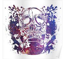 Gas Mask Galaxy Poster