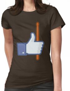LIKE DRUMS FACEBOOK Womens Fitted T-Shirt
