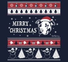 Merry Pitmas Christmas Sweater Design Gift for Pit Lovers One Piece - Short Sleeve
