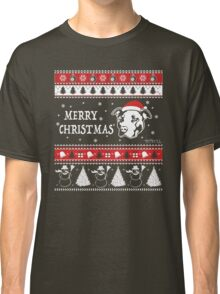 Merry Pitmas Christmas Sweater Design Gift for Pit Lovers Classic T-Shirt