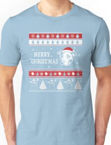 Merry Pitmas Christmas Sweater Design Gift for Pit Lovers Unisex T-Shirt