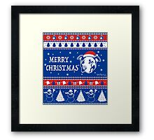 Merry Pitmas Christmas Sweater Design Gift for Pit Lovers Framed Print