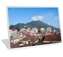 Sapa Vietnam View across the roofs of the town to Ham Rong Mountain. Laptop Skin
