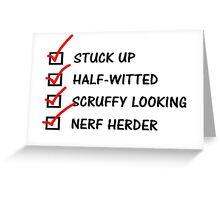 Han Solo To-Do List: Greeting Card