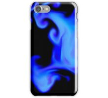 Blue Smoke Abstract iPhone Case/Skin