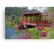 Japanese Bridge at Emu Valley Canvas Print