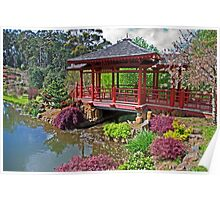Japanese Bridge at Emu Valley Poster