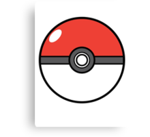 Pokemon Poke Ball Canvas Print