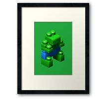 3D Green Giant Framed Print