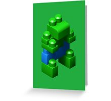 3D Green Giant Greeting Card
