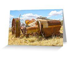 Old Sunshine harvester.... Greeting Card