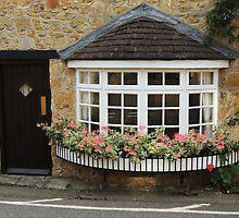 Bow Window With Geraniums by Alexandra Lavizzari