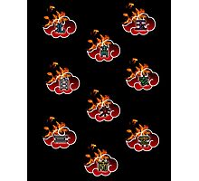 Flame of the Akatsuki (w/ Symbols)  Photographic Print