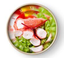 Crab sticks surimi imitation Clock