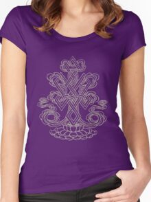 Endless Knot Symbol Women's Fitted Scoop T-Shirt