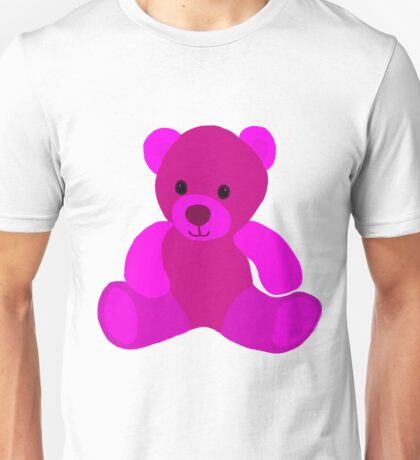 Bright Pink Teddy Bear Unisex T-Shirt