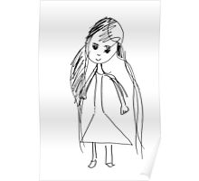 little Girl- child's drawing Poster