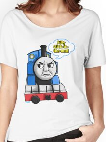 """Cheeky Thomas says """"Stick-in-the-mud!"""" Women's Relaxed Fit T-Shirt"""