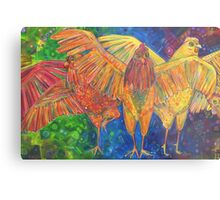 Chicken confidence (Making a safe space) painting - 2016 Metal Print