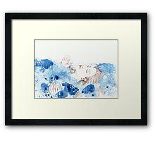 My Ophelia - Meditation on Water Framed Print
