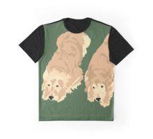 2 Golden Retrievers Graphic T-Shirt