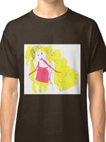 The girl with golden hair - child's drawing Classic T-Shirt