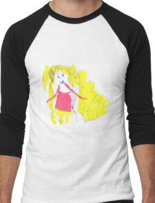 The girl with golden hair - child's drawing Men's Baseball ¾ T-Shirt