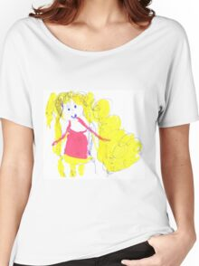 The girl with golden hair - child's drawing Women's Relaxed Fit T-Shirt