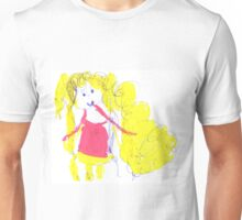 The girl with golden hair - child's drawing Unisex T-Shirt