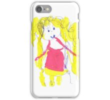 The girl with golden hair - child's drawing iPhone Case/Skin