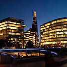 The London Shard at Night by MARTISTIC