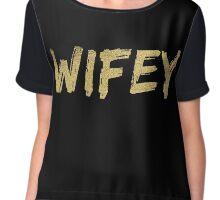 Wifey 2.0 - gold glitter  Chiffon Top