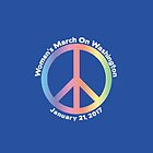 Women's March On Washington Peace Sign by CaesarSleeves