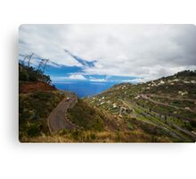 Cloudy City on the Hill - Travel Photography Canvas Print