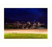 Avro Lancaster night run Art Print