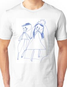 Boy and girl - child's drawing Unisex T-Shirt