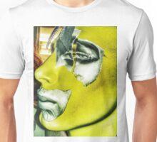 Punk collage man in yellow Unisex T-Shirt