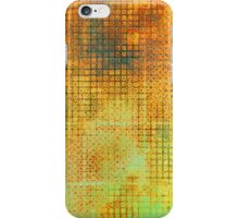 Watercolor Abstraction: Rust Grid Texture iPhone Case/Skin