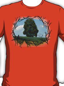 """Read The World Away"" [Transparent Fade] T-Shirt"