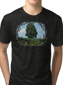 """""""Read The World Away"""" [Transparent Fade] Tri-blend T-Shirt"""