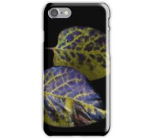 Yellow and Purple Leaves  iPhone Case/Skin