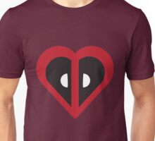 Deadpool Heart Marvel Unisex T-Shirt