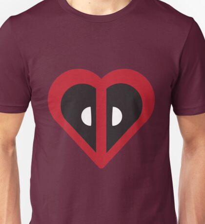 Deadpool Heart Marvel Unisex T-Shirt