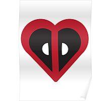 Deadpool Heart Marvel Poster