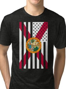 Florida State Flag Graphic USA Styling Tri-blend T-Shirt