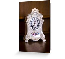 Old-fashioned Clock - Object Photography Greeting Card