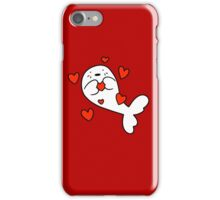 Baby Harp Seal Love iPhone Case/Skin