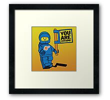 Lego-Inspired Benny   You Are Awesome!  Framed Print